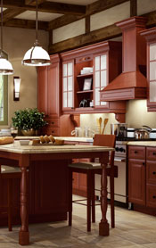 K-Cinnamon Glaze Kitchen Cabinets