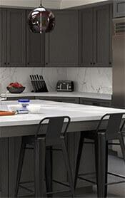 Midtown Grey Kitchen Cabinets